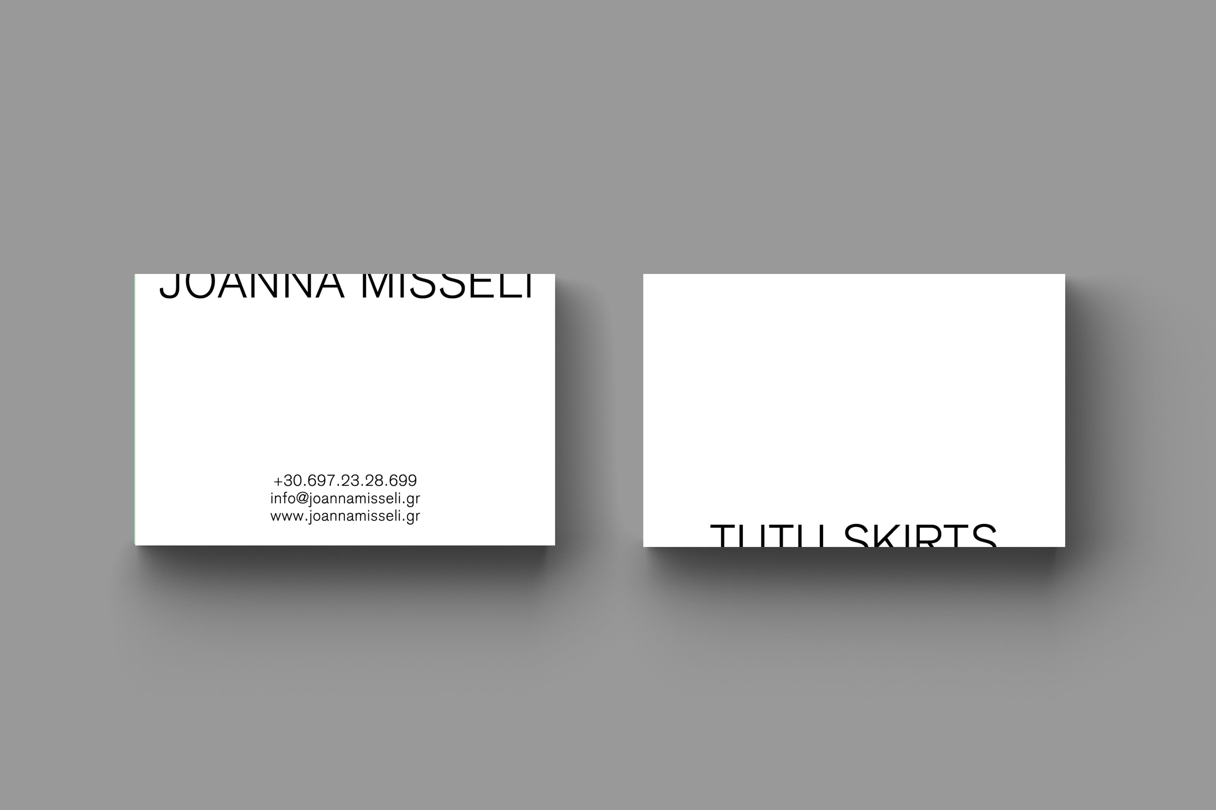 • Joanna Misseli – Creative direction + Visual identity + Website 1