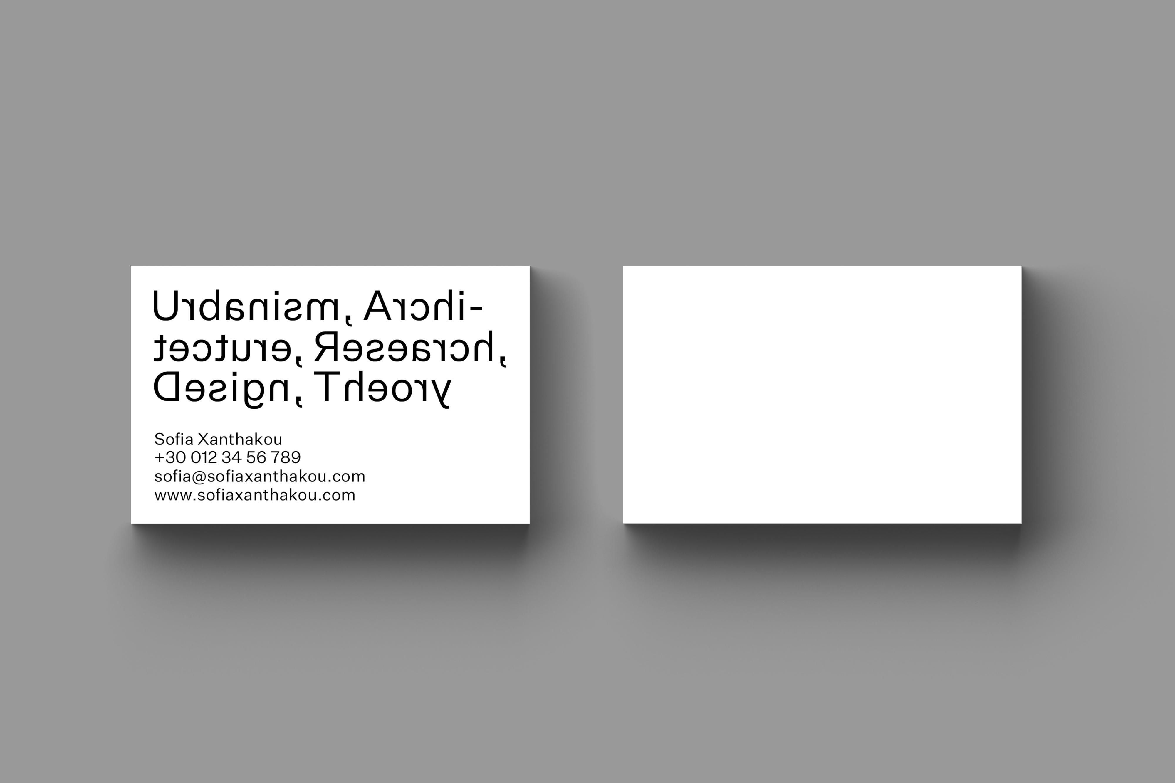 • Sofia Xanthakou – Business cards + Website 1